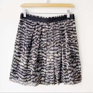 Club Monaco Silk Mini Skirt